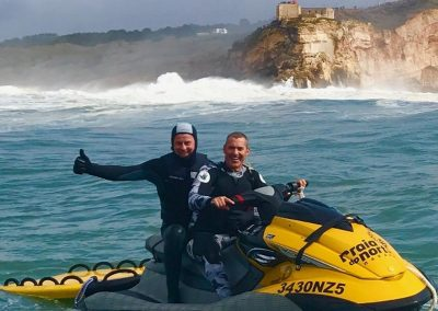 Nazare Rescue Team Using LifeSled Ocean Rescue Board