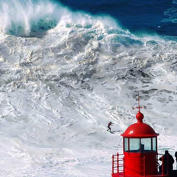 Nazare Tow In Surfer