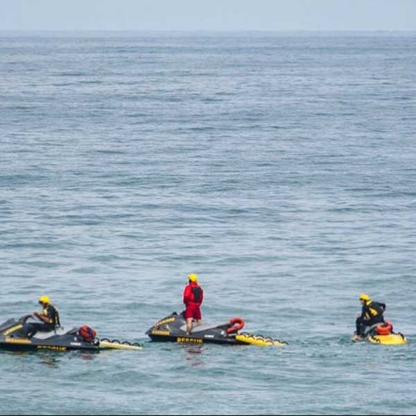 Oceanside Ca Water Rescue Team using LifeSleds