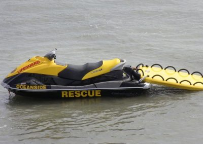 Oceanside California Lifeguard Rescue PWC and LifeSled