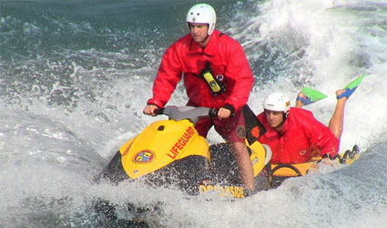 Oceanside Lifeguard LifeSled Safety Training