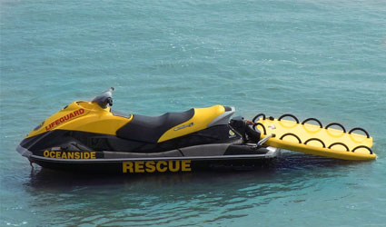 Oceanside Lifeguard PWC Rescue Sled